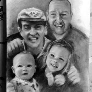 Custom People Graphite Portraits